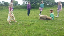 Drum Games teaching sensory awareness and stillness in nature